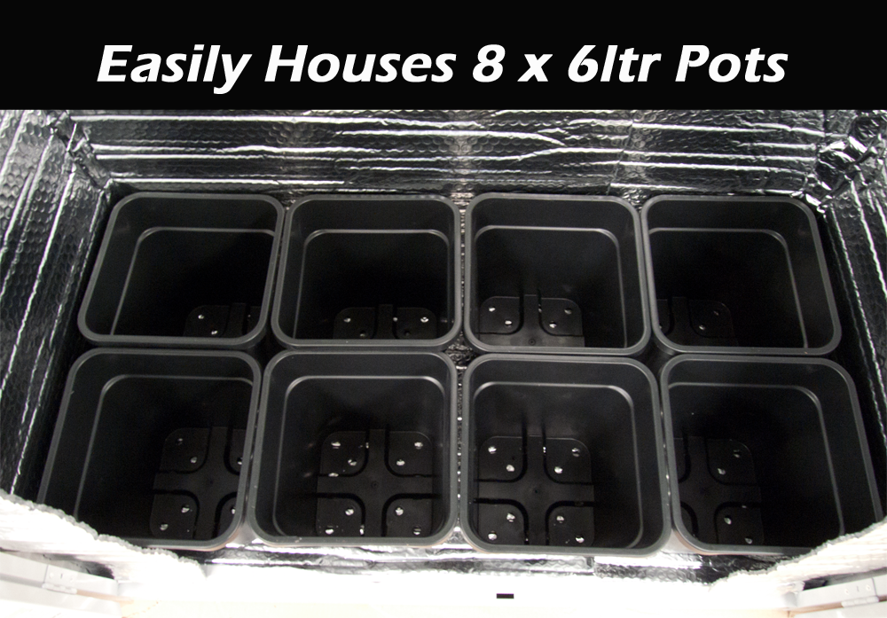 Easily houses 6 x 6ltr pots